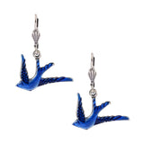 Anne Koplik Bluebird Silver Plated Dangle Earrings