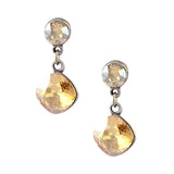 Anne Koplik Silver Plated Crystal Dangle Post Earrings ES8602CGS