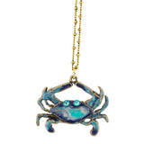 Anne Koplik Crab Necklace, Gold Plated Multicolor Pendant