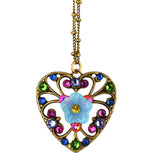 Anne Koplik Fila Heart Necklace, Gold Plated Multicolor Pendant