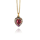 Anne Koplik Small Heart Necklace, Gold Plated Pendant