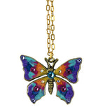 Anne Koplik Crystal Butterfly Necklace, Gold Plated Pendant