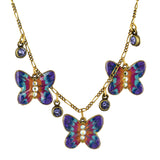 Anne Koplik Butterfly Jumble Necklace, Gold Plated
