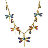 Anne Koplik 5 Dragonfly Necklace, Gold Plated Pendant