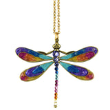 Anne Koplik Dragonfly Necklace, Gold Plated Multicolor Pendant