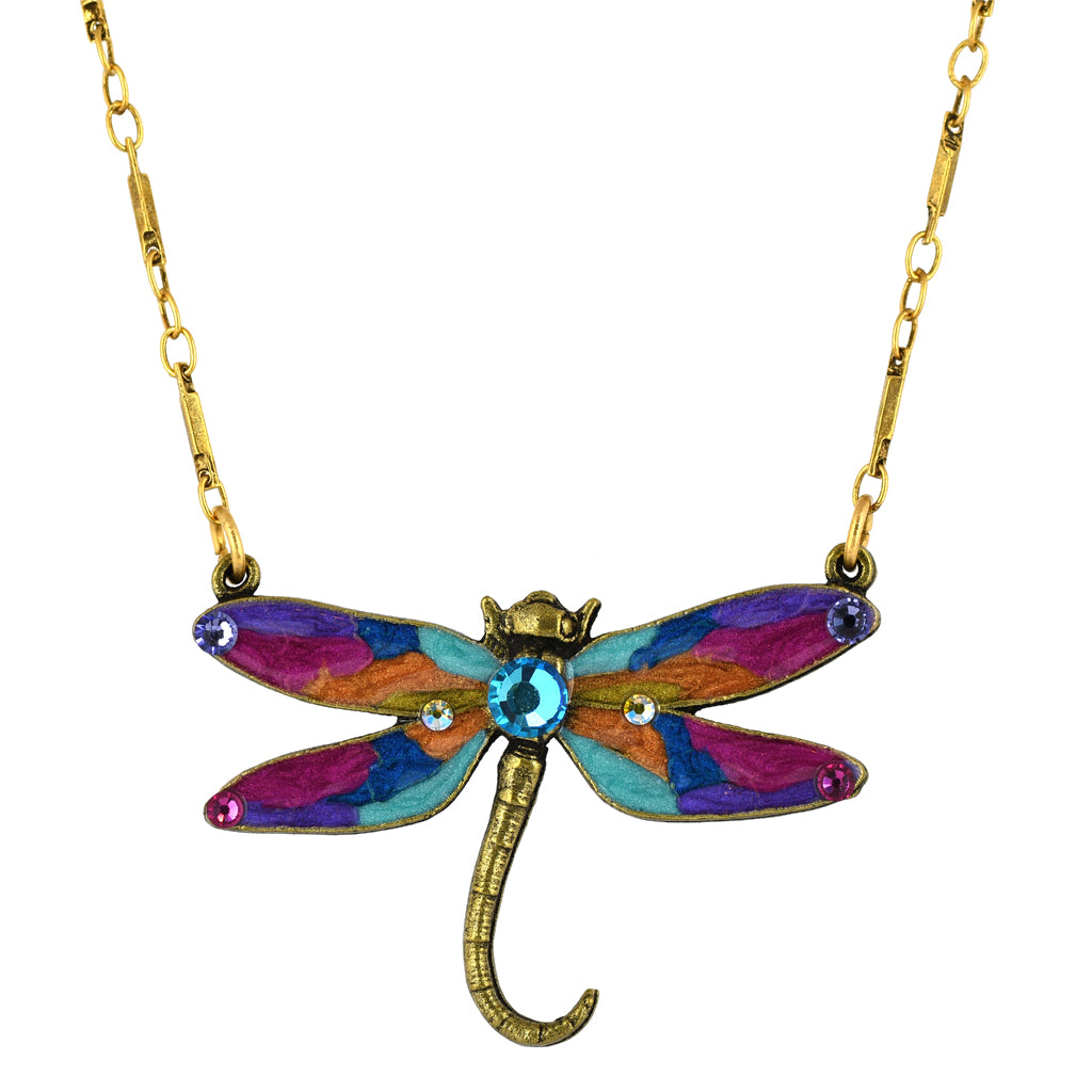Anne Koplik Dragonfly Necklace, Gold Plated Pendant