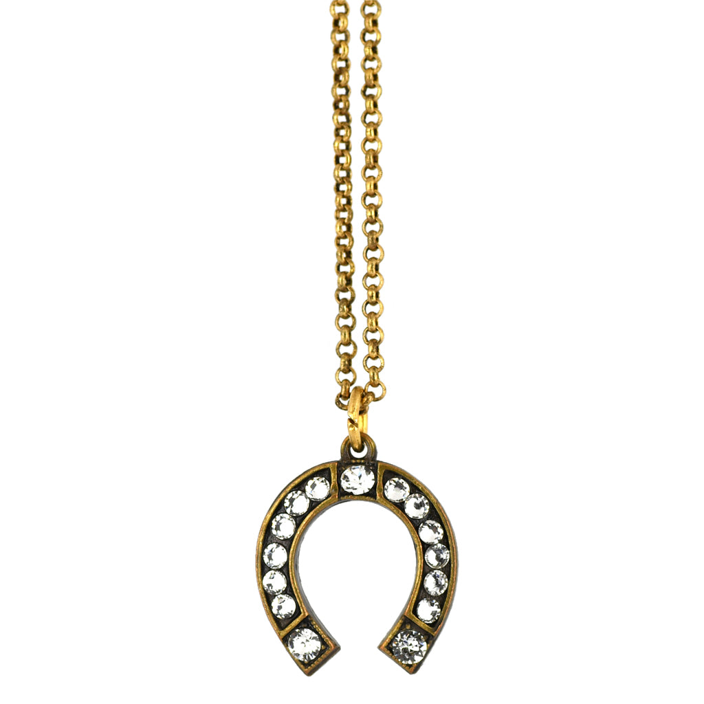 Anne Koplik Horseshoe Luck Necklace, Gold Plated Pendant