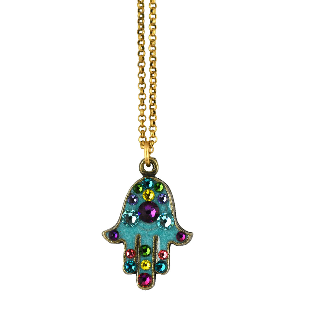Anne Koplik Hamsa Hand Necklace, Gold Plated Pendant