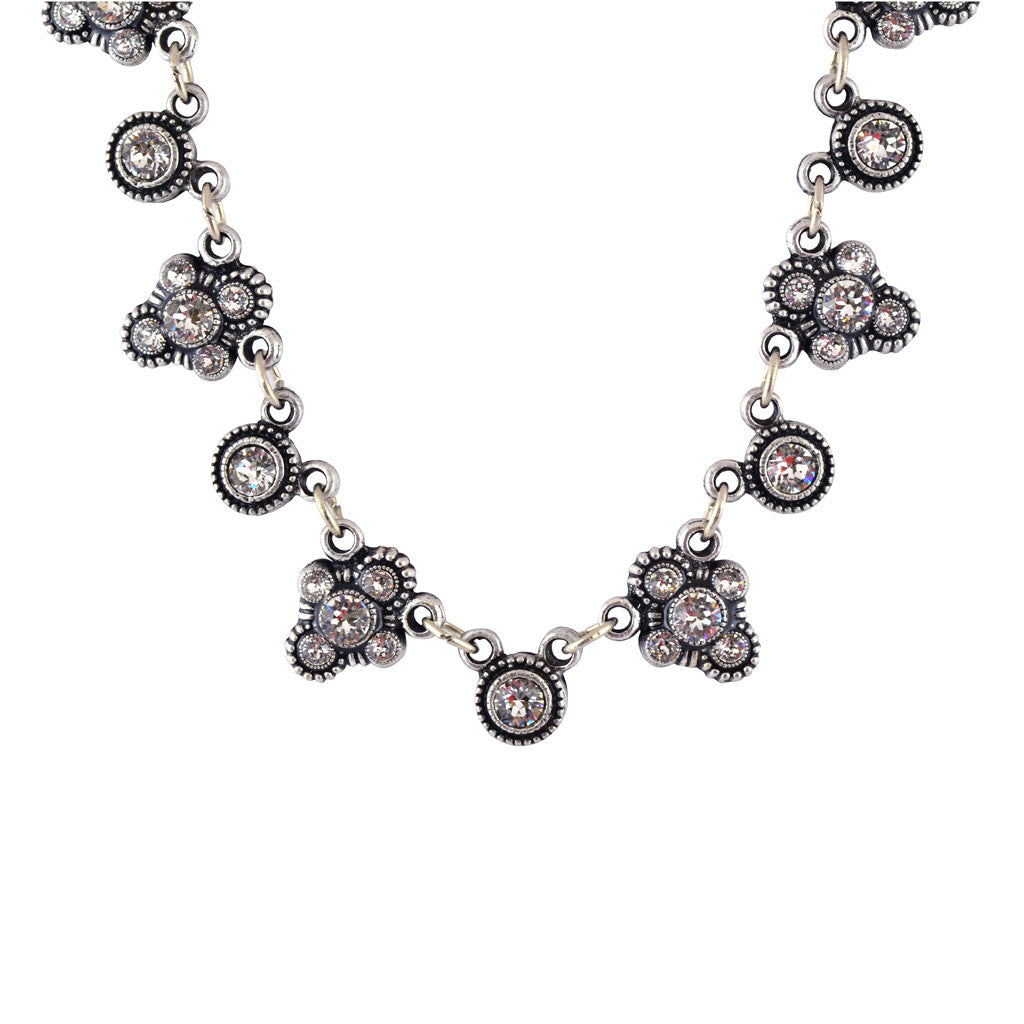 Anne Koplik Fancy Fila Bubble Necklace, Silver Plated