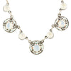 Anne Koplik Round Crystal Necklace, Silver Plated Pendant, 18