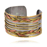 Anju Stainless Steel Cuff Bracelet with Braided Knot