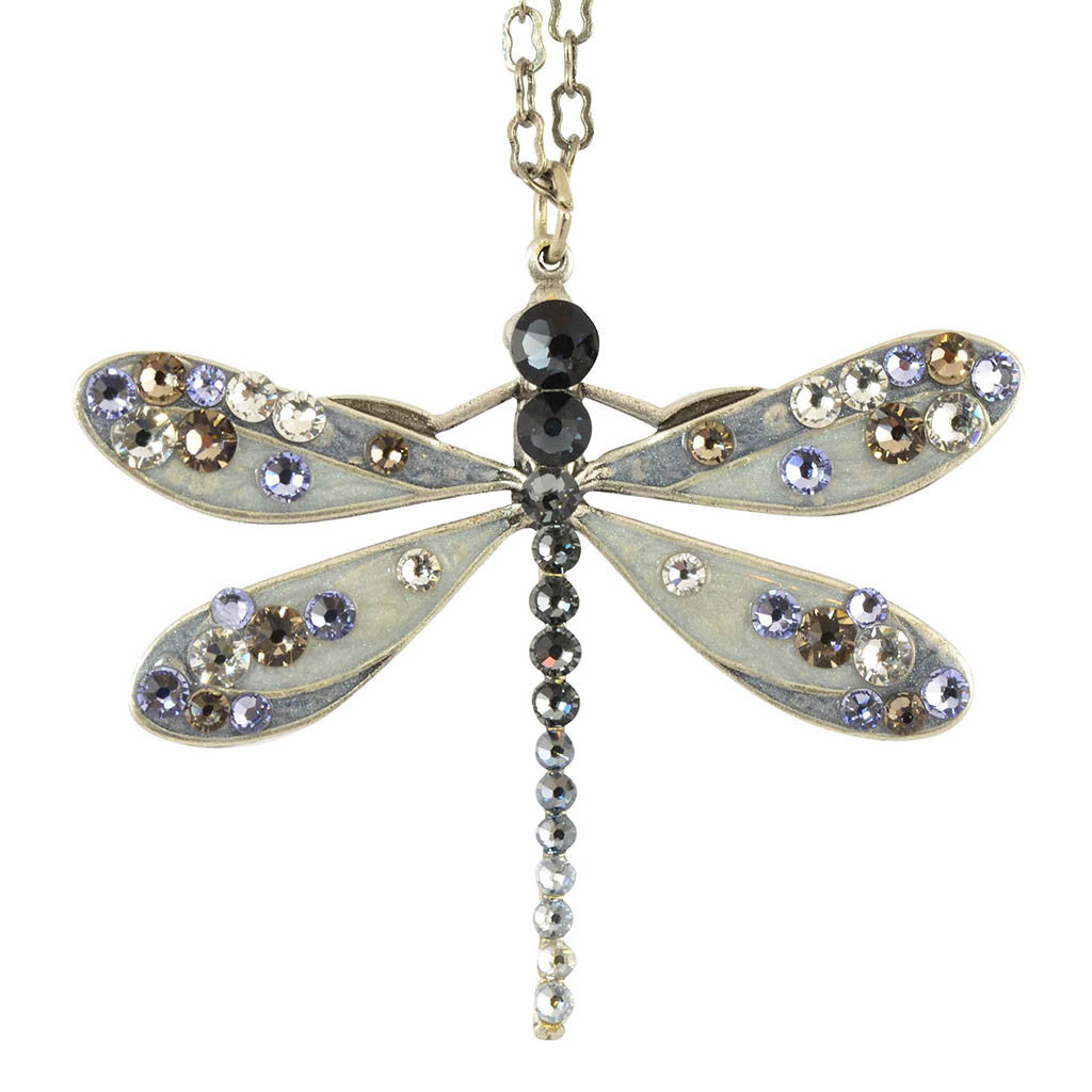 Anne Koplik Dragonfly Pendant Necklace, Silver Plated NS3130GPH