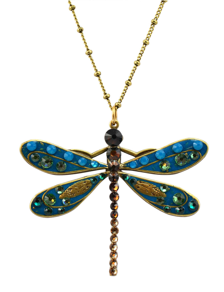 Anne koplik gold plated large blue enamel dragonfly pendant necklace anne koplik gold plated large blue enamel dragonfly pendant necklace with swarovski elements crystal aloadofball Choice Image