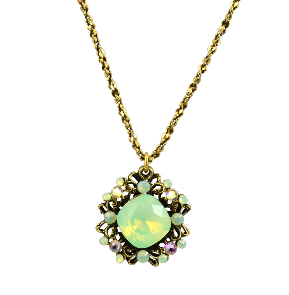Anne Koplik Necklace, Antique Gold Plated Starburst with Swarovski Elements Crystal