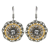 Clara Beau Jewelry Crystal Pave Earrings, Silver Plated Clear Dangle