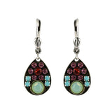 Clara Beau Jewelry Crystal Drop Earrings, Silver Plated Multicolor Dangle
