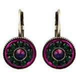 Clara Beau Jewelry Crystal Rondelle Earrings, Silver Plated Multicolor Dangle