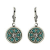 Clara Beau Jewelry Crystal Floral Earrings, Silver Plated Green Dangle