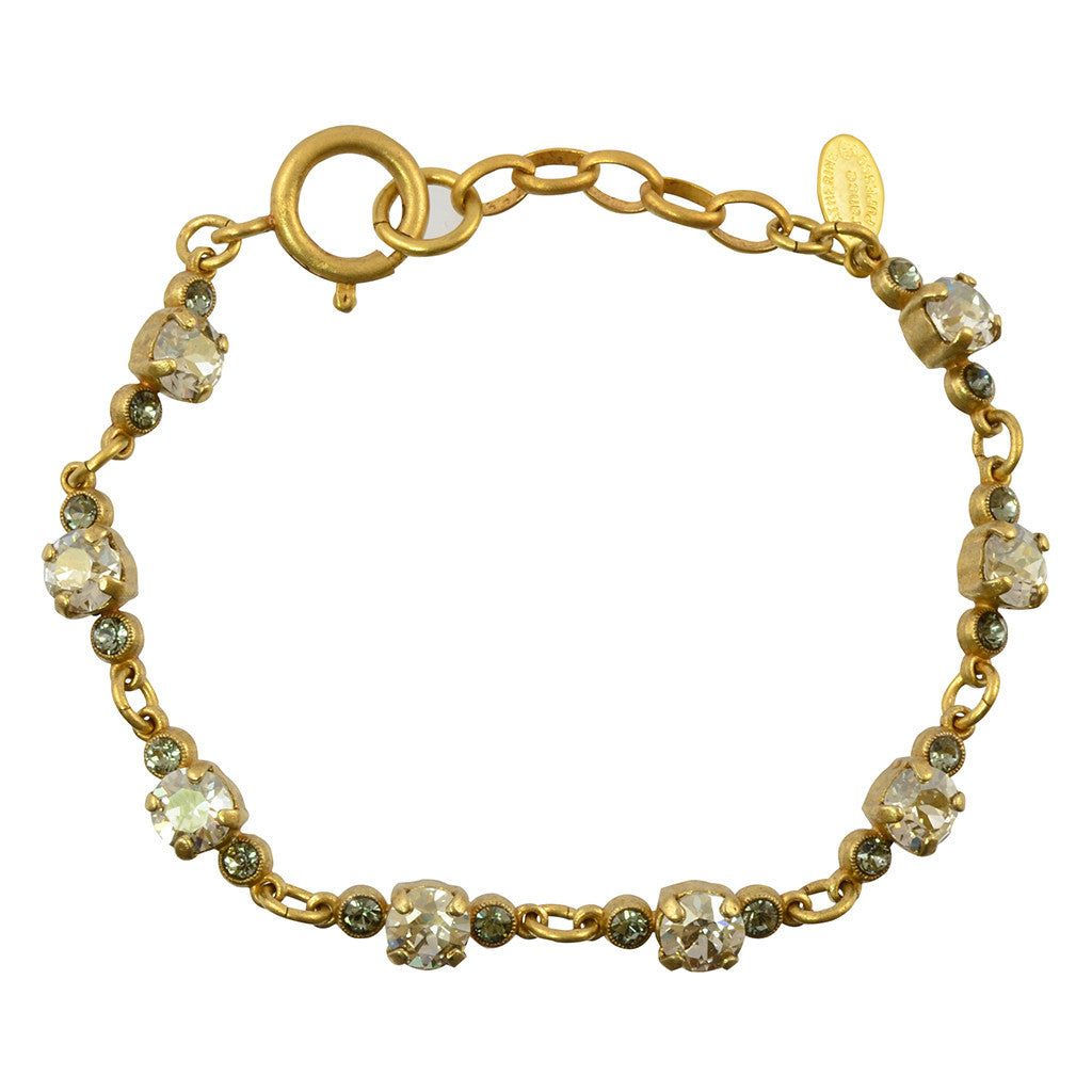 Catherine Popesco Crystal Pairs Tennis Bracelet, La Vie Parisienne Gold Plated, 8 1684G