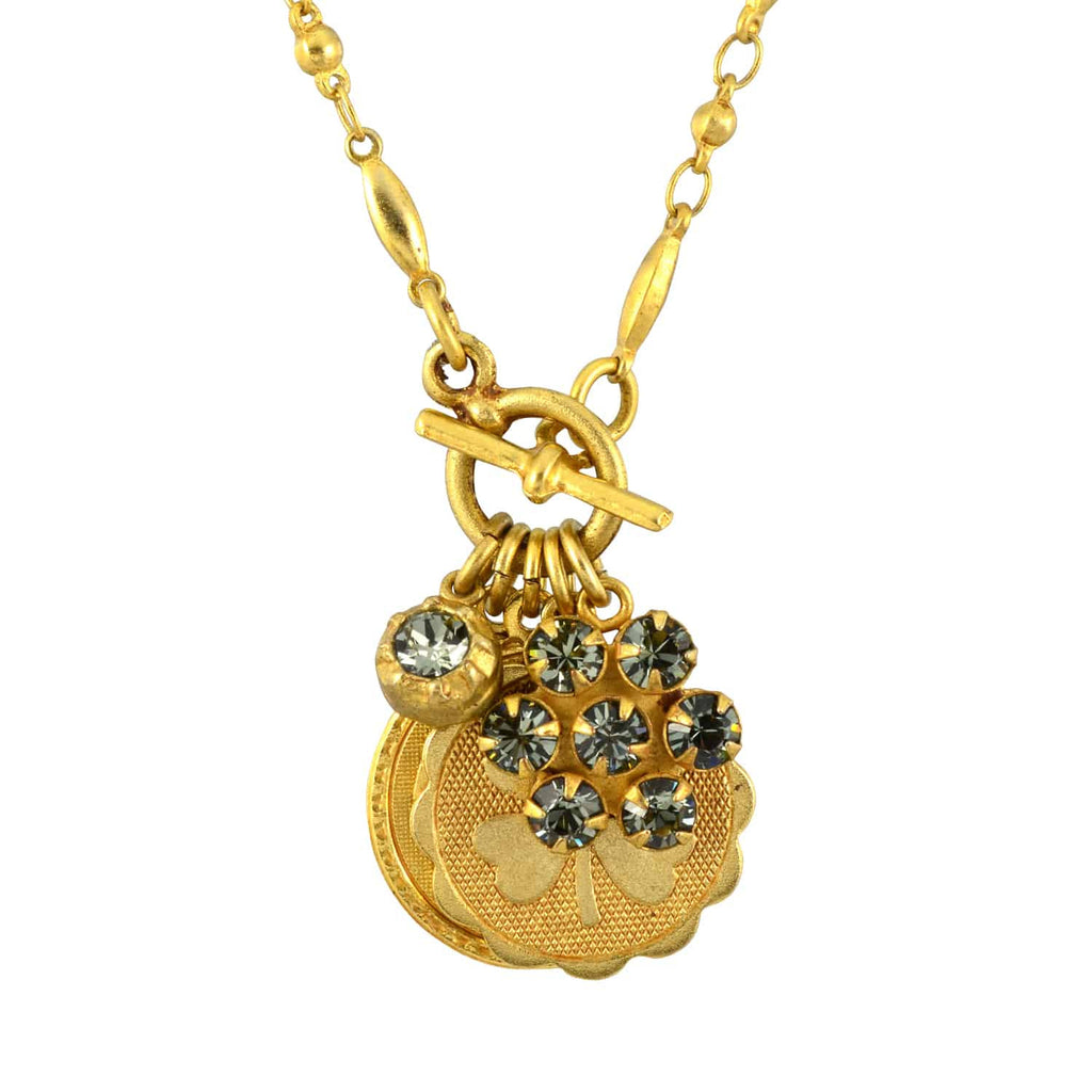 52ba9e414 Catherine Popesco Gold Plated Charm Necklace with Clover, Amour and Sw – En  Reverie