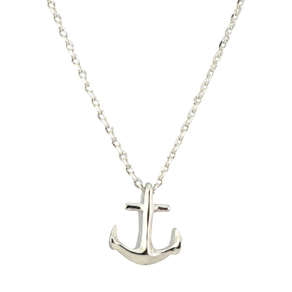 Enreverie Anchor Necklace, Silver Plated Pendant