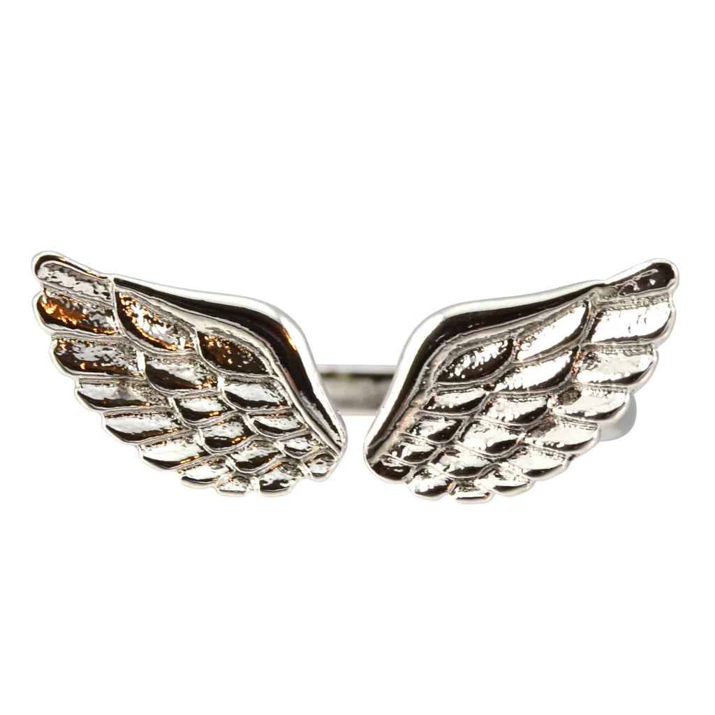 Enreverie Angel Wings Ring, Silver Plated Adjustable