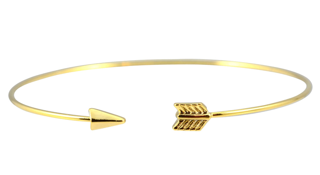 Enreverie Arrow Bangle Bracelet, Gold Plated