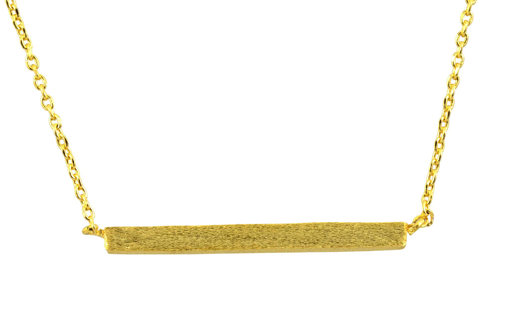 Enreverie Bar Necklace, Gold Plated Pendant