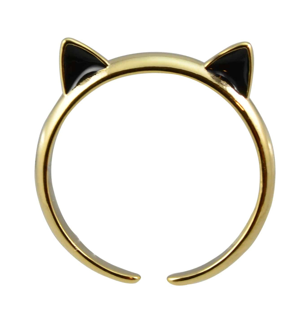 Enreverie Cat Ears Gold Plated Adjustable Cat Ring