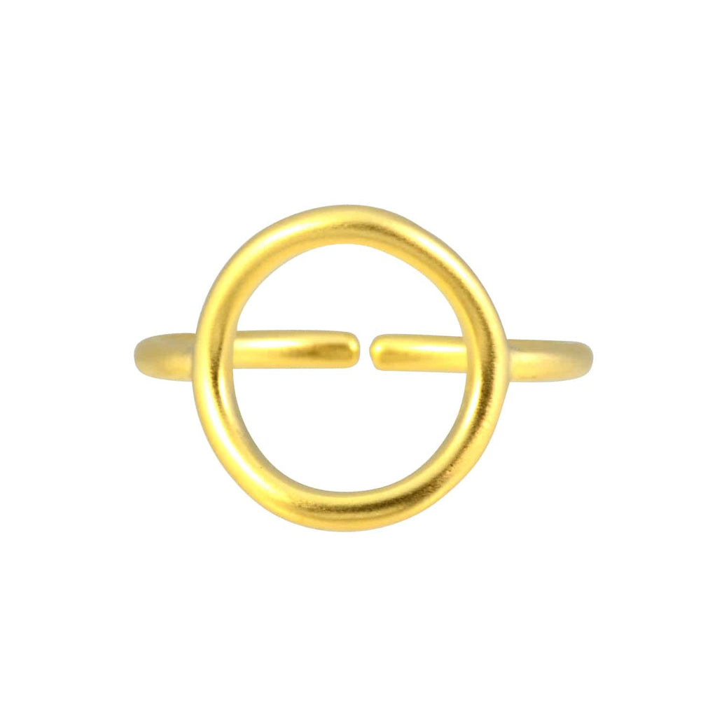 Enreverie Circle Ring, Gold Plated Adjustable