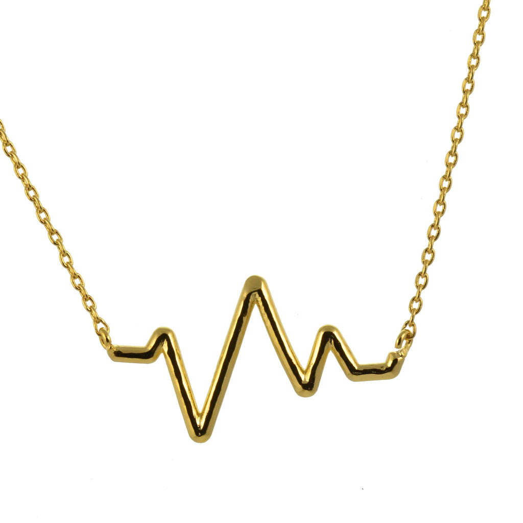 Enreverie ecg heartbeat necklace gold plated pendant en reverie enreverie ecg heartbeat necklace gold plated pendant aloadofball Gallery