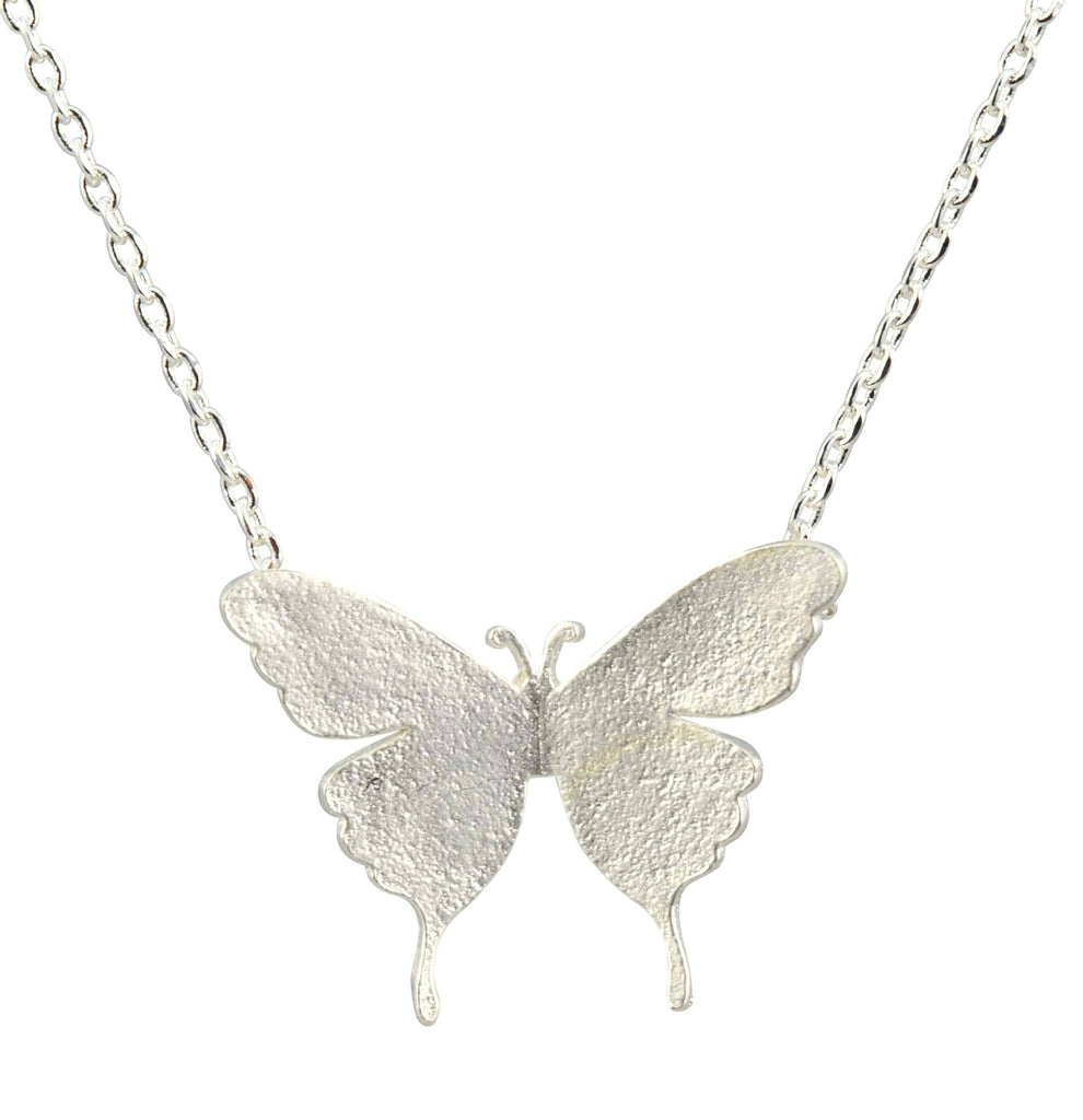 Enreverie fancy butterfly necklace silver plated pendant enreverie fancy butterfly necklace silver plated pendant aloadofball Image collections