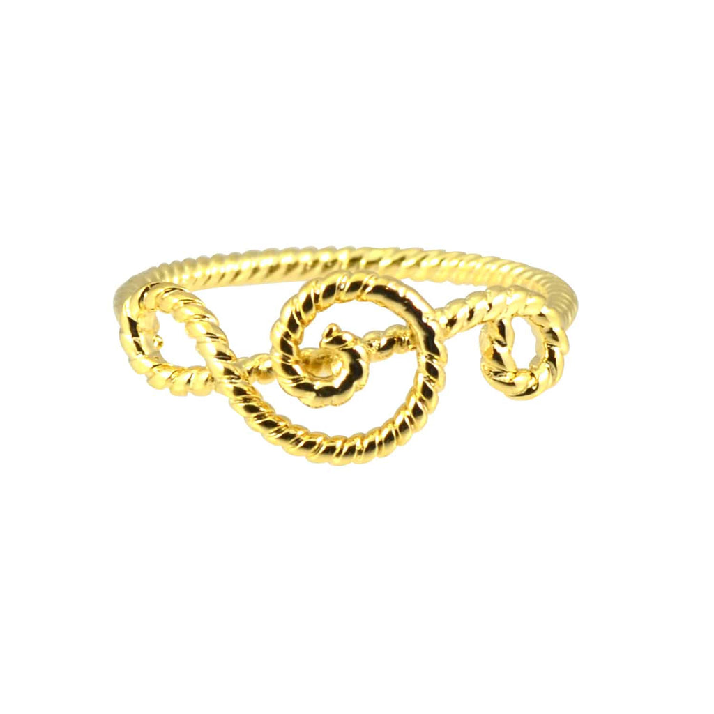 Enreverie Gold Plated Music Note Midi Wrap Ring