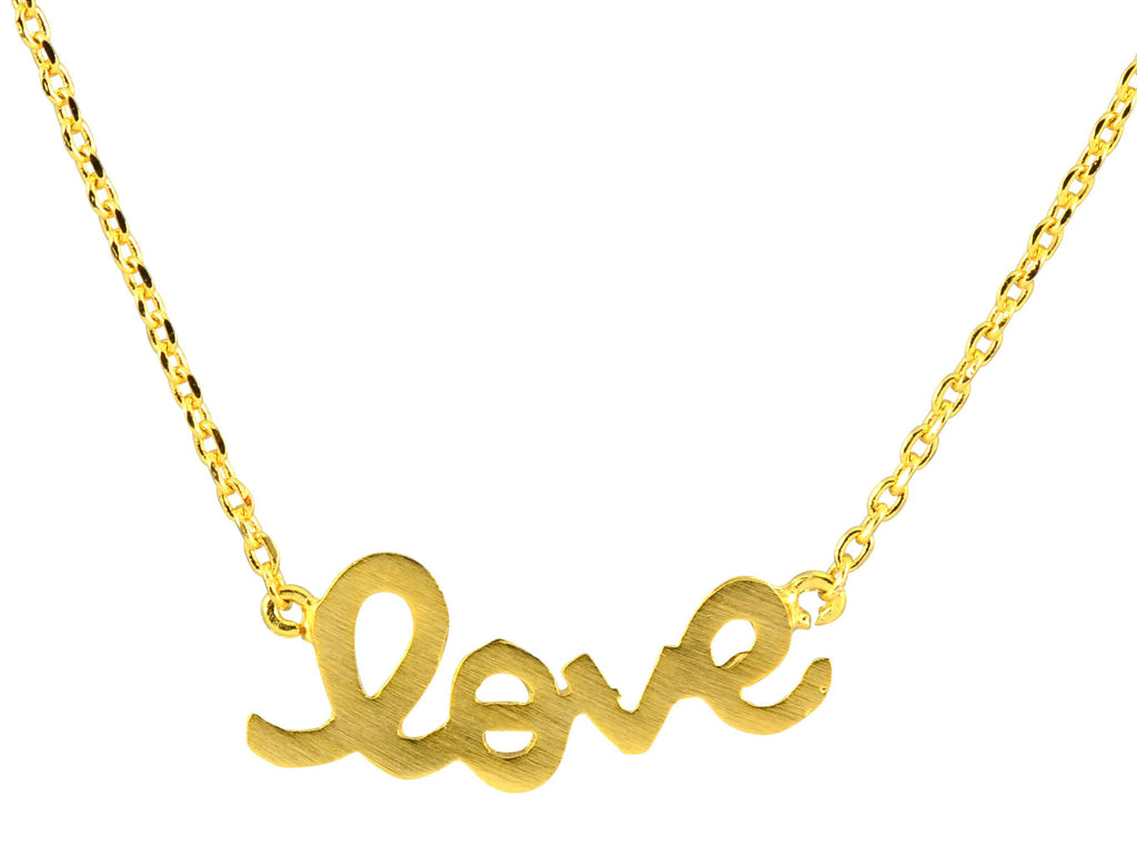 Enreverie Love Necklace, Gold Plated Pendant