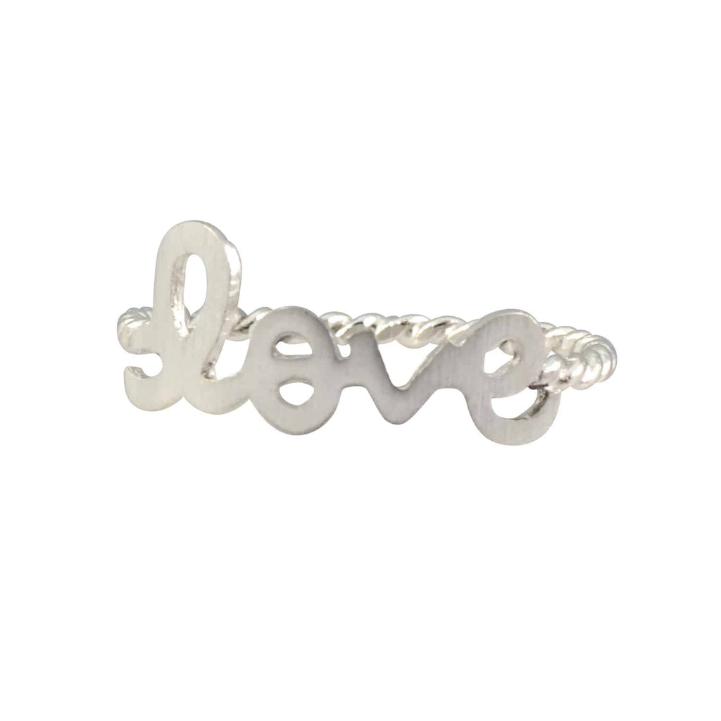 Enreverie Love Ring, Silver Plated Size 7