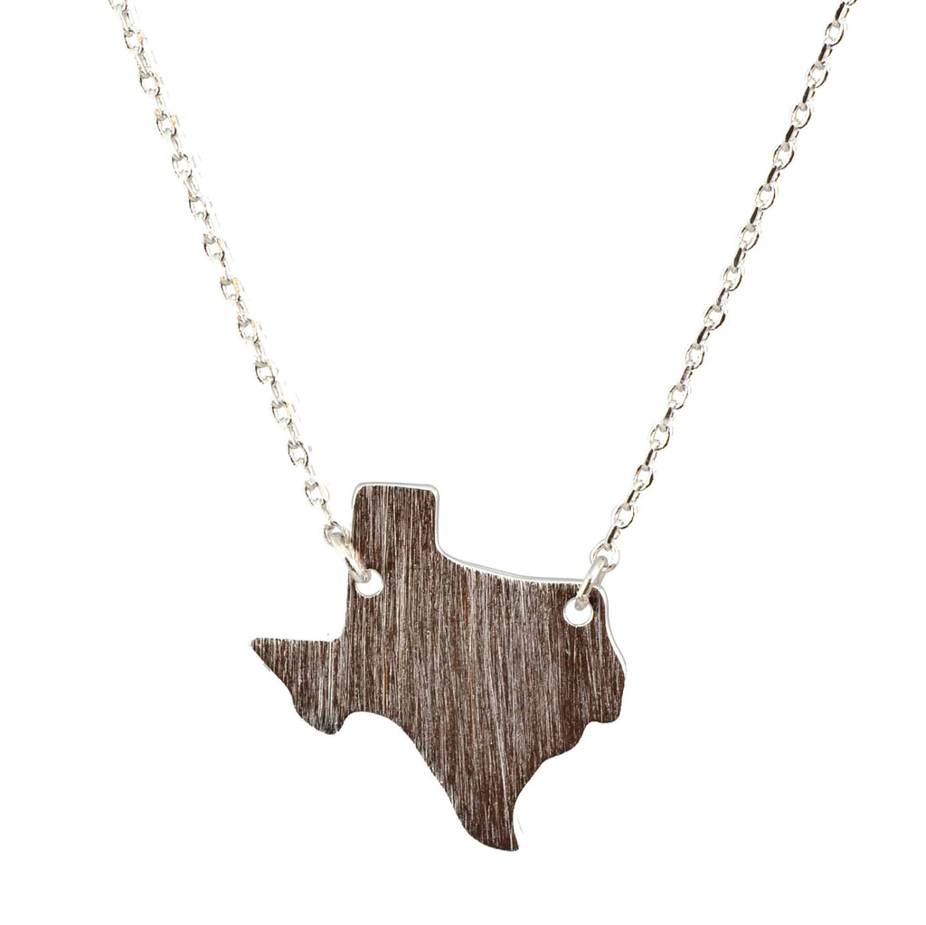 Enreverie Necklace, Silver Plated I Love Texas Pendant