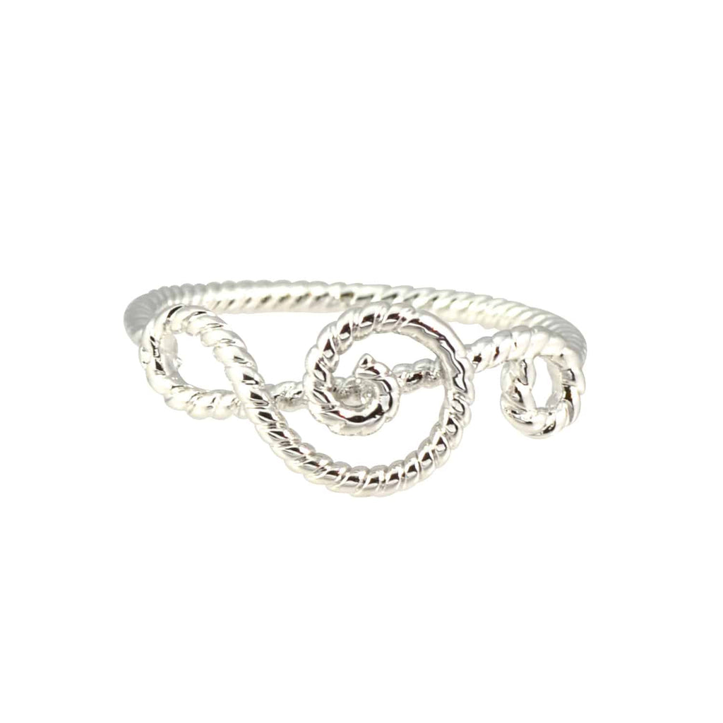 Enreverie Silver Plated Music Note Midi Wrap Ring