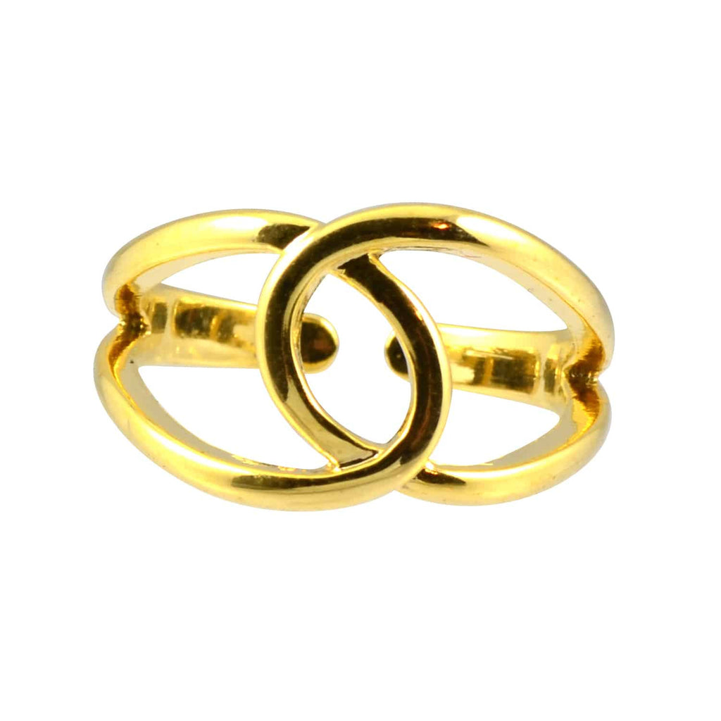 Enreverie Simple Celtic Knot Ring, Gold Plated Adjustable