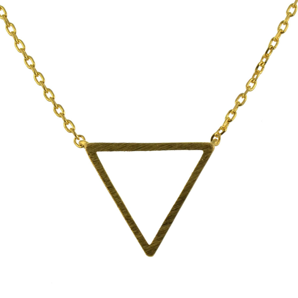 Enreverie Triangle Necklace, Gold Plated Pendant