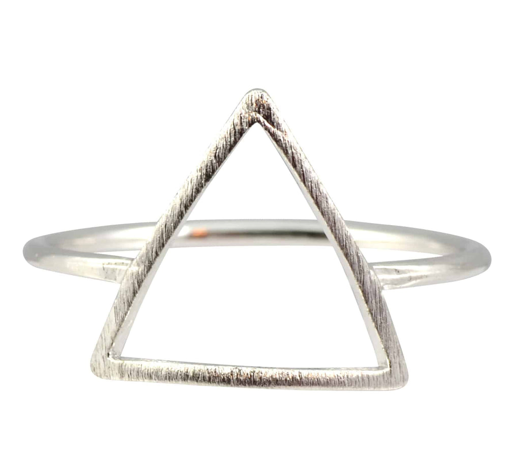 Enreverie Triangle Ring, Silver Plated Approx Size 7