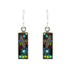 Firefly Jewelry Luxe Small Rectangle Earrings, Silver Plated Multicolor Crystal Dangle