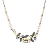 Firefly Jewelry Petite Flora Necklace, Silver Plated Glass Pearls
