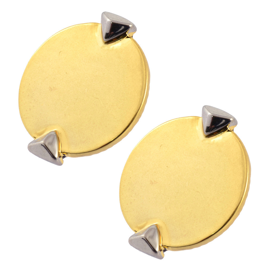 House of Harlow Shield Button Stud Earrings, Goldtone