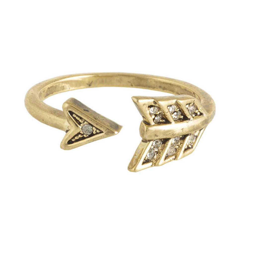 House of Harlow Arrow Affair Ring, Goldtone Size 7, by Nicole Richie