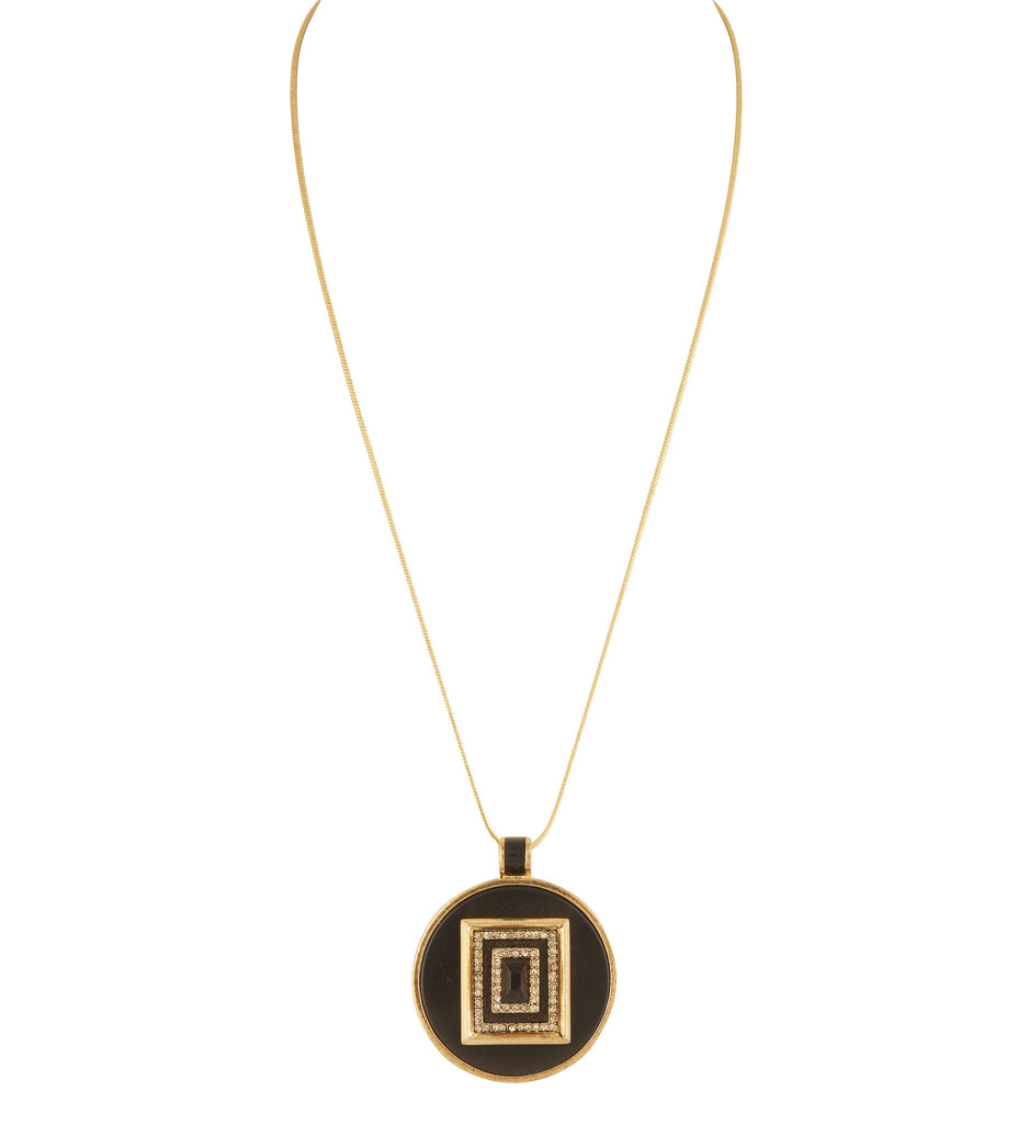House of Harlow Lady of the Lake Circle Pendant Necklace, Goldtone, 28