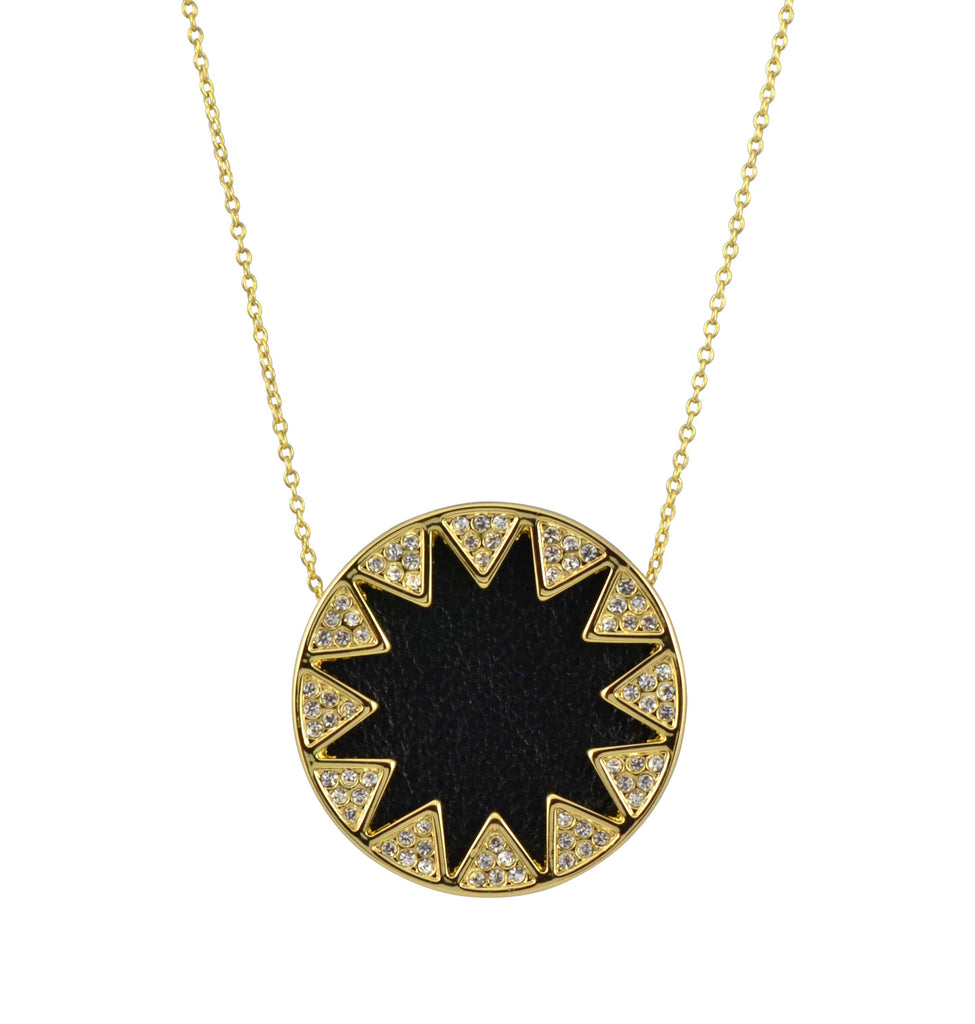 scene pave house double of final necklace the harlow shop sunburst