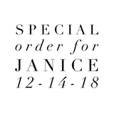 Special Order for Janice 12-14-18