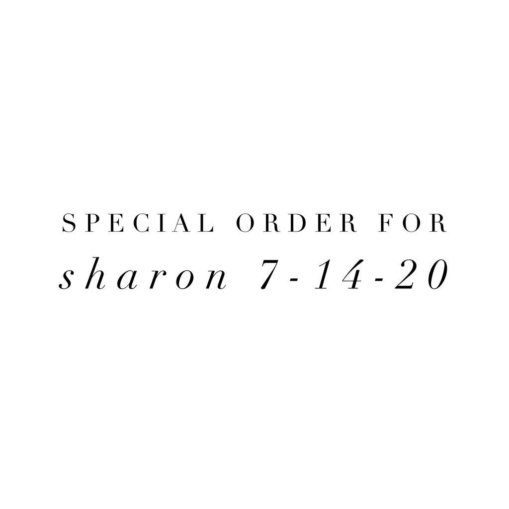 Special Order for Sharon 7-14-20