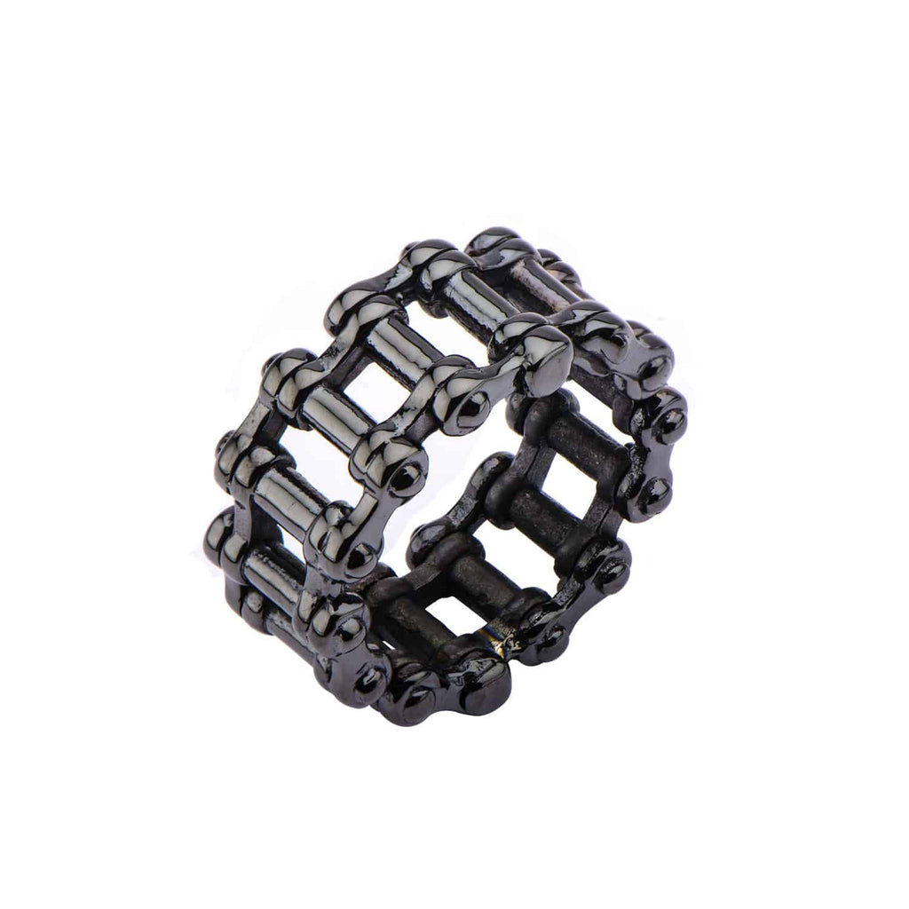 INOX Men's Stainless Steel Motor Chain Ring, Size 11