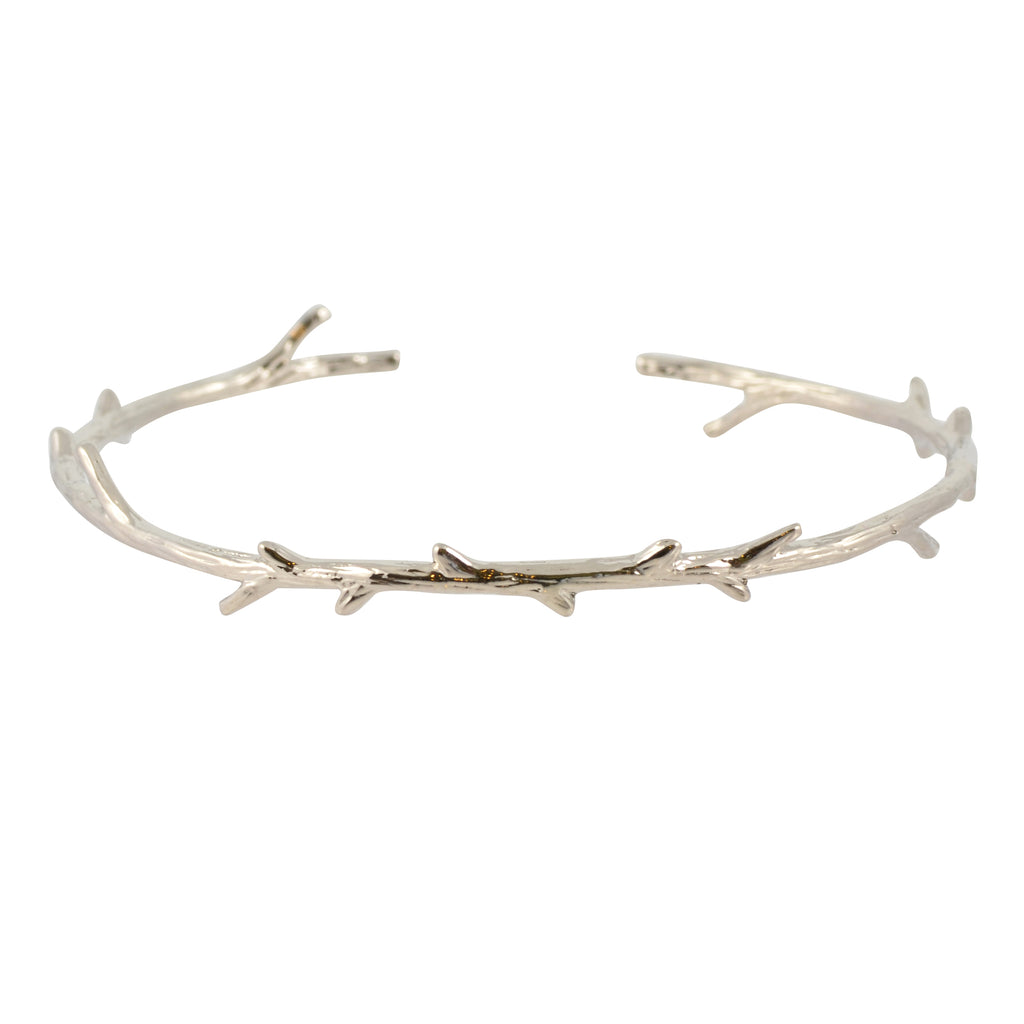 In Your Dreams Branch Bangle Bracelet, Silver Plated